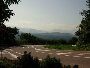 výhled na cestě zpět do města St. Michael